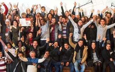 Schlauschule bekommt den Münchner Schulpreis 2017 - Schüler jubeln