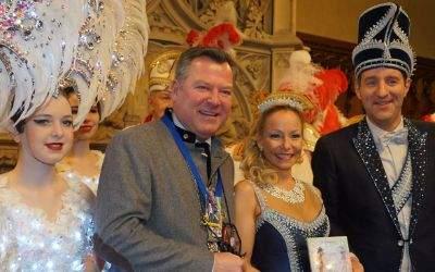 Bürgermeister Josef Schmid begrüßt die Münchner Faschingsprinzenpaare