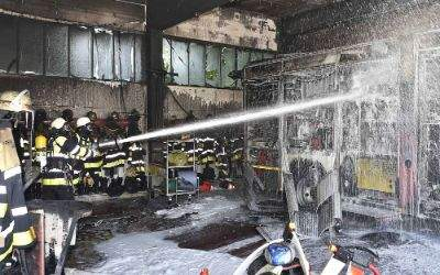 Brand bei der Feuerwehr in der Heinrich-Groh-Straße