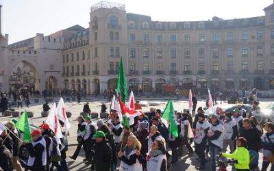 Ver.di-Demonstration in München.