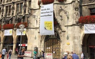 """Plakatmotive zur Kampagne """"Wählen gehen für Demokratie und Menschenrechte!"""""""