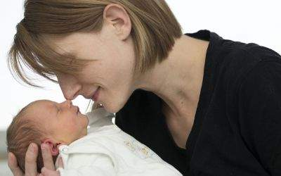 Annabell mit ihrer Mutter.