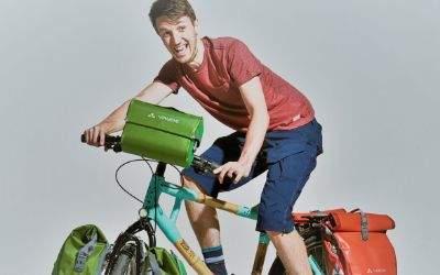 Bamboobasti und sein Fahrrad.