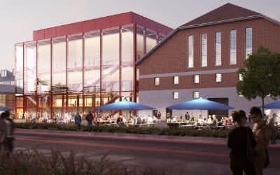 Gasteig-Interimsquartier in Sendling: Außenansicht - Visualisierung