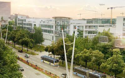 Neue Idee vorgestellt: Eine Urbane Seilbahn für München: