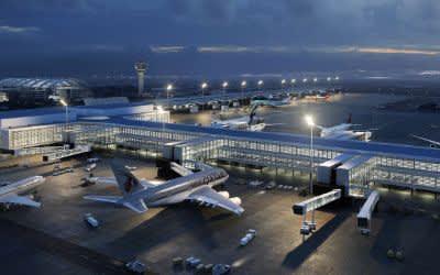 Visualisierung zur Modernisierung des T1 am Flugahfen München