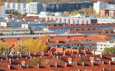Wohngebiet im Münchner Stadtteil Laim