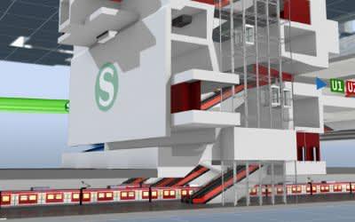 Visualisierung 2. Stammstrecke Hauptbahnhof