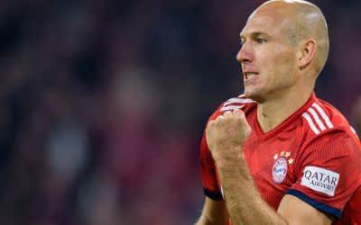Robben jubelt nach seinem Treffer zum 1:0.