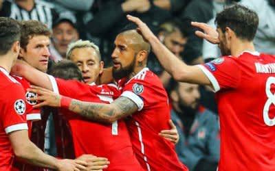 Besiktas gegen FC Bayern Munich - Champions League