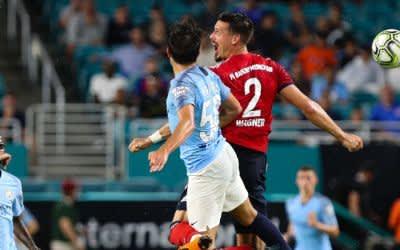 Spielszene: FC Bayern gegen Manchester City in Miami am 28.7.2018