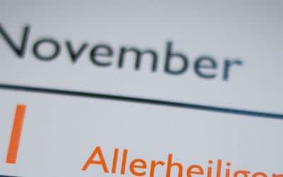 Kalenderblatt Novemberanfang