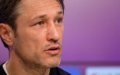 Niko Kovac, Trainer vom FC Bayern München, spricht auf einer Pressekonferenz
