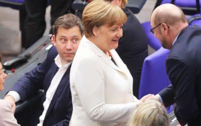 Angela Merkel nach ihrer Wahl zur Bundeskanzlerin