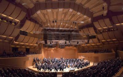 Die Münchner Philharmoniker spielen unter der Leitung von Waleri Gergijew in der Philharmonie im Gasteig