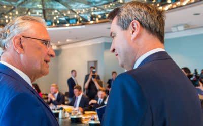 Joachim Herrmann und Markus Söder