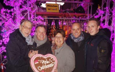 Eröffnung von Pink Christmas im Glockenbachviertel