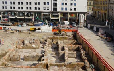 Archäologische Grabungen am Marienhof