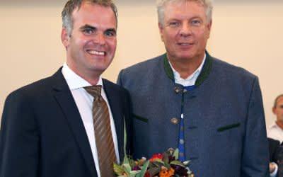 Christoph Frey mit OB Reiter