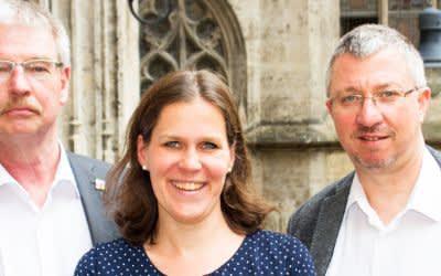Der wiedergewählte SPD-Fraktionsvorstand mit Alexander Reissl, Verena Dietl und Christian Müller