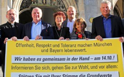 Prominente aus der Münchner Stadtgesellschaft präsentieren Wahlaufruf