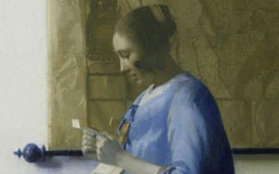 Johannes Vermeer, Briefleserin in Blau, um 1663, Öl auf Leinwand