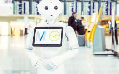 Roboter Josie Pepper am Münchner Flughafen
