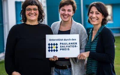 Paulaner_Salvator_Preis_2018 - Tee und mehr (v.l.n.r.): Rebecca Schreiber, Linda Rogosch, Dr. Sophia Berthuet