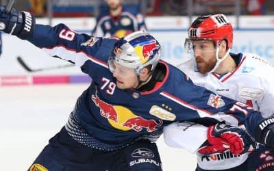 Spielszene im Match des EHC gegen Mannheim.