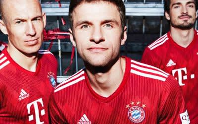 So sieht es aus: Das neue Heimtrikot des FC Bayern.