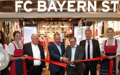 FC Bayern Store am Flughafen München eröffnet