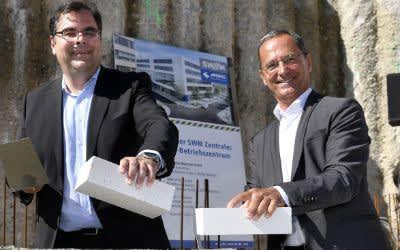 Grundsteinlegung für neues MVG-Betriebszentrum