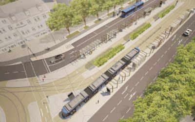 Umgestaltung Romanplatz - Visualisierung