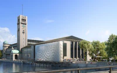 Entwurf für die Fassade am Deutschen Museum
