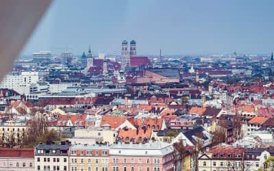 Der Blick über München aus dem Riesenrad.