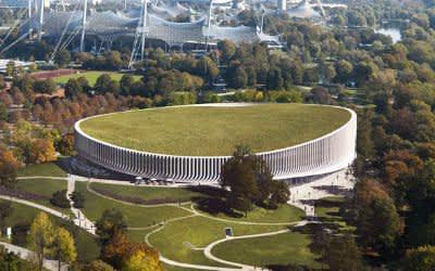 Visualisierung der neuen Sportarena im Olympiapark