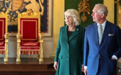 Der britische Prinz Charles und Camilla, Herzogin von Cornwall