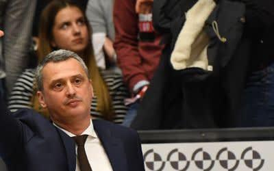 Der Trainer der Basketball-Mannschaft des FC Bayern München, Dejan Radonjic.