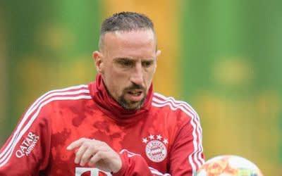 Franck Ribéry wärmt sich auf