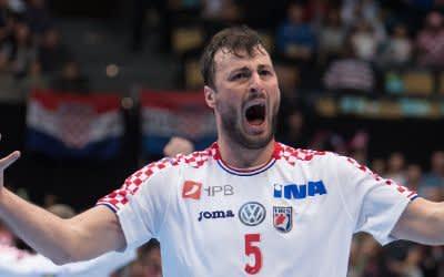 Handball-Spieler Domagoj Duvnjak vom kroatischen Team