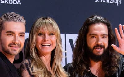 Heidi Klum mit den Kaulitz-Brüdern