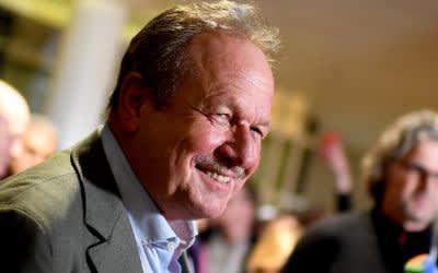 Verdi-Chef Frank Bsirske zeigt sich nach der Einigung in den Tarifverhandlungen zufrieden