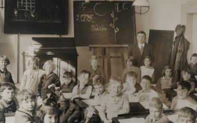 Klasse der Volksschule an der Hohenzollerstraße in München - 1920er Jahre