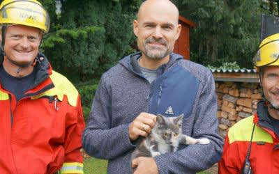 """Katze """"Coco"""" nach 20 Stunden von Baum gerettet"""