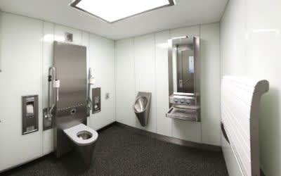 Öffentliche Toilette am Partnachplatz