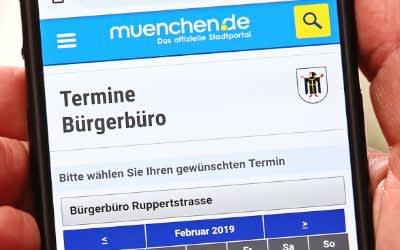 Online-Terminvergabe des Bürgerbüros