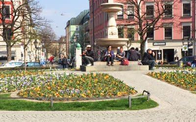 Frühlingsblumen am Gärtnerplatz