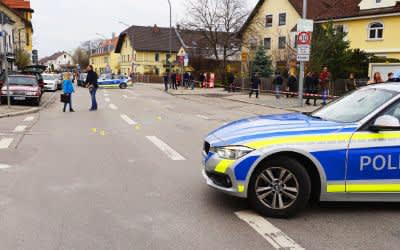 Großeinsatz der Polizei in Trudering