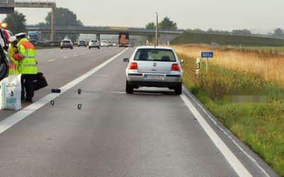 Unfallstelle auf der A9 bei Allershausen