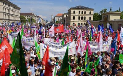 """Bündnis """"Die Vielen"""" - Demo am Odeonsplatz"""